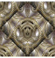 intricate abstract gold 3d seamless pattern vector image vector image