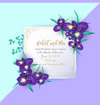 iris flower wedding invitation card vector image vector image