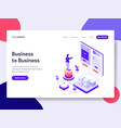 landing page template of business to business vector image vector image