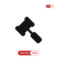 legal hammer icon vector image
