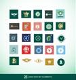 Logo design elements set vector image vector image