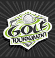 logo for golf tournament vector image