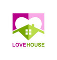 love house realty logo vector image vector image