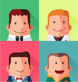 male avatar character design vector image