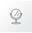 mirror icon line symbol premium quality isolated vector image vector image