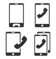 mobile phones flat icon set vector image