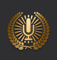 modern new gold microphone logo vector image vector image