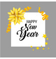 new year event with ribbon decoration vector image vector image