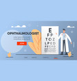 ophthalmologist with tablet vector image vector image