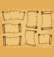 paper scrolls old parchments manuscript papyrus vector image