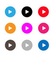 play sign icon set play button on white vector image vector image