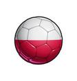polish flag football - soccer ball vector image vector image