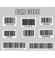 realistic bar code icon vector image