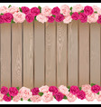 Seamless Flower Frame vector image vector image