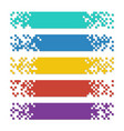 set of color abstract pixel web banners with vector image vector image