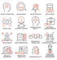 Set of icons related to business management - 26 vector image vector image