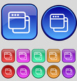 Simple Browser window icon sign A set of twelve vector image
