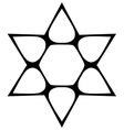Star shape contour Monochromatic vector image vector image