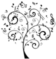 tree notes vector image vector image