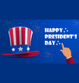 uncle sams hat for american holidays with ribbon vector image