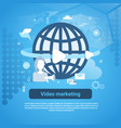 video marketing concept web banner with copy space vector image vector image