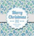 Vintage blue Christmas label vector image