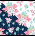 watercolor seamless floral pattern with gorgeous b vector image