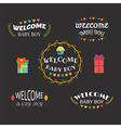 Welcome baby boy Baby shower card design Baby boy vector image vector image