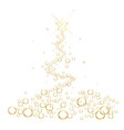 white christmas tree square background vector image vector image