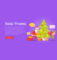 xmas and fast delivery of best presents isolated vector image vector image