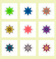 label icon on design sticker collection ramadan vector image