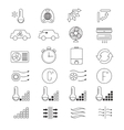 Air conditioning cooling thin line icons vector image vector image
