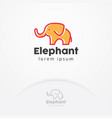 baby elephant logo vector image vector image