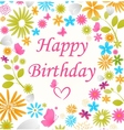 Beautiful Birthday card vector image vector image