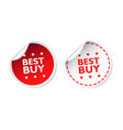 best buy sticker business sale red tag label on vector image