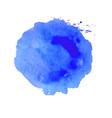 blue blot vector image vector image