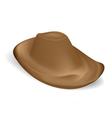 Brown Cowboy hat vector image vector image