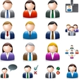 Business people avatar isolated on white vector image