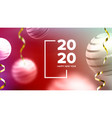 celebrating happy new year invite banner vector image vector image