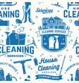 cleaning services seamless pattern or background vector image vector image