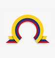 colombian flag rounded abstract background vector image