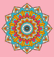 colourful mandala background design vector image vector image