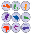 countries of the world on coins set vector image vector image