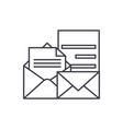 direct marketing line icon concept direct vector image vector image
