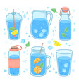 drink water concept more drinking glass bottle vector image