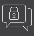 encrypted messaging line icon security