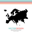 europe map design vector image vector image