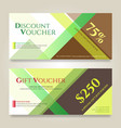 gift voucher or gift card on colorful abstract vector image