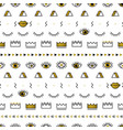 golden eyes pattern with lips crown lightning vector image vector image