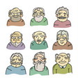 hand drawn icons vector image vector image